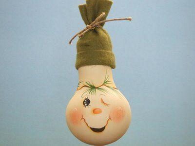 adorno para el rbol de navidad con bombillas