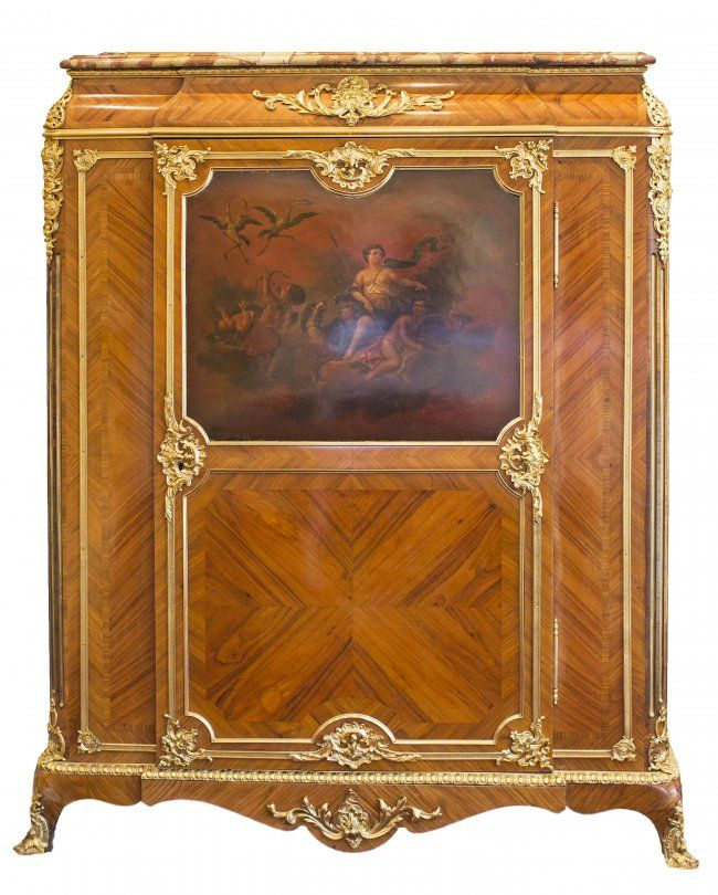 french louis xiv style gilt bronze mounted cabinet on ornate rh pinterest ca