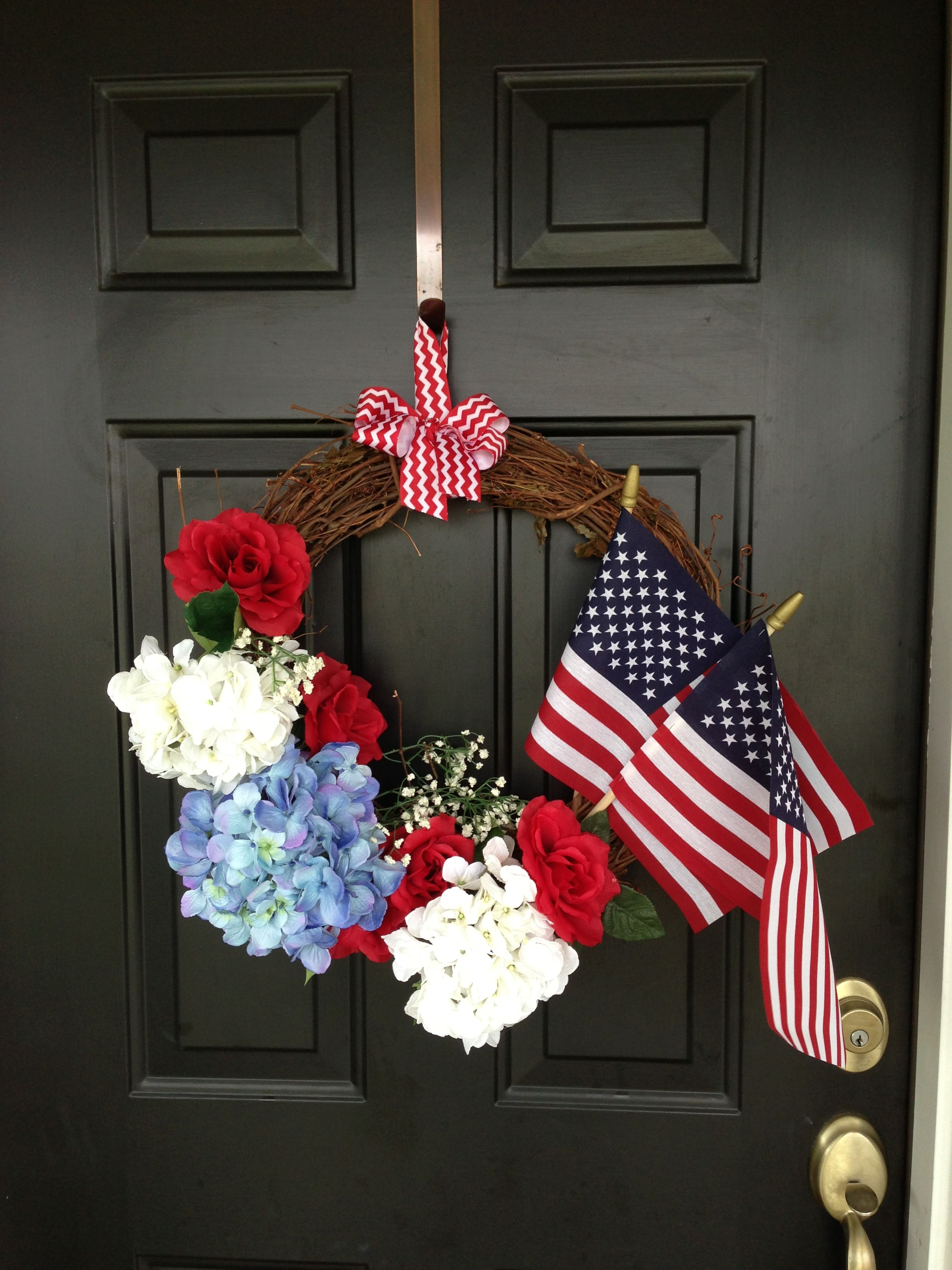 4th of July, Memorial Day wreath. All products from Walmart ...