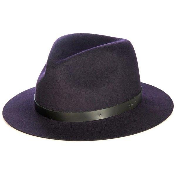 Rag Bone Abbott Wool Felt Fedora Hat 117 Liked On Polyvore Featuring Accessories Hats Navy Wool Fedora Hat Felt Fedora Black Wool Hat Wool Fedora Hat