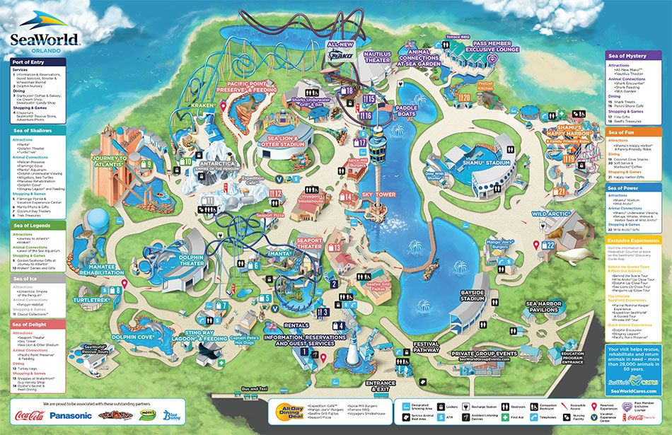 091415ParkMap seaworld Pinterest Seaworld orlando and Park