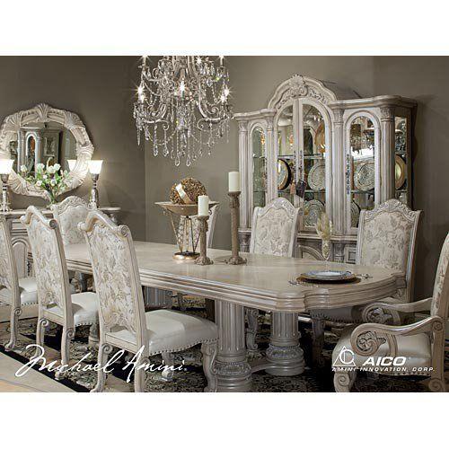Aico Monte Carlo Ii Silver Pearl Dining Room Suite By Michael