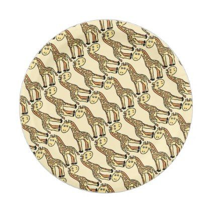 Shop Sweet Safari Giraffe Cartoon Seamless Pattern Paper Plate created by its_sparkle_motion.  sc 1 st  Pinterest & Sweet Safari Giraffe Cartoon Seamless Pattern Paper Plate - #cute ...