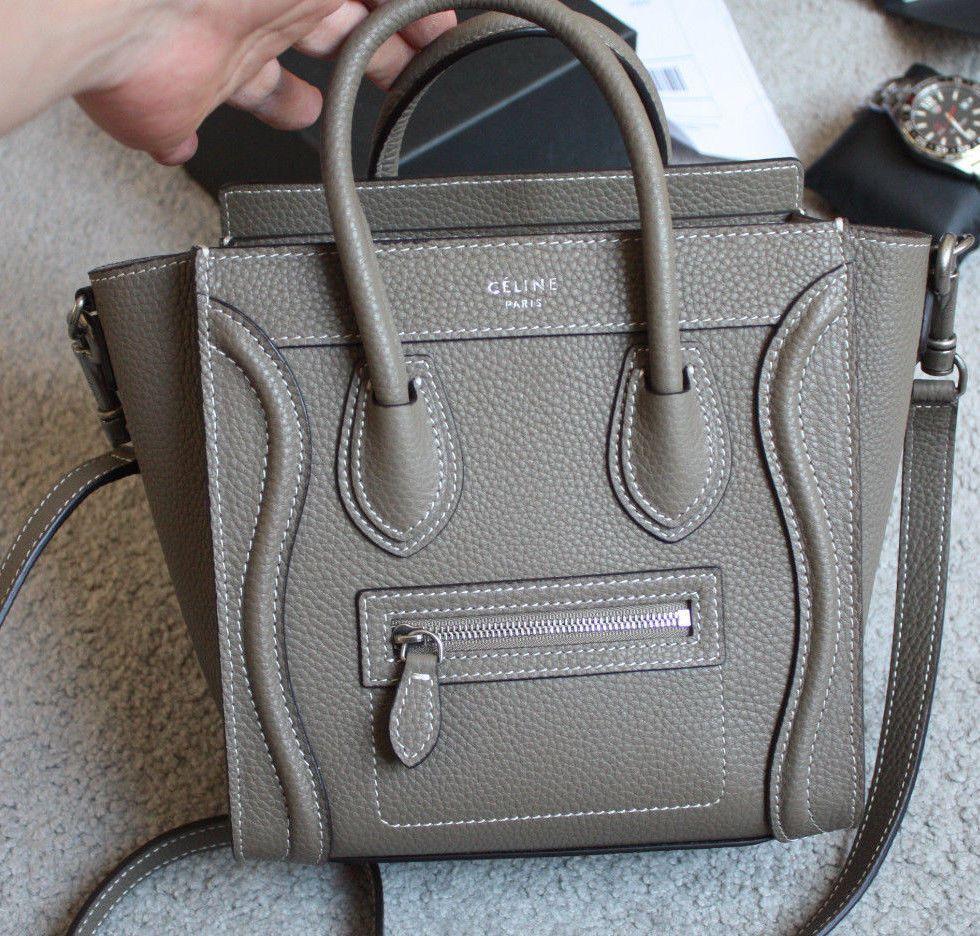 Details About Very Nice Black Celine Paris Nano Luggage Bag