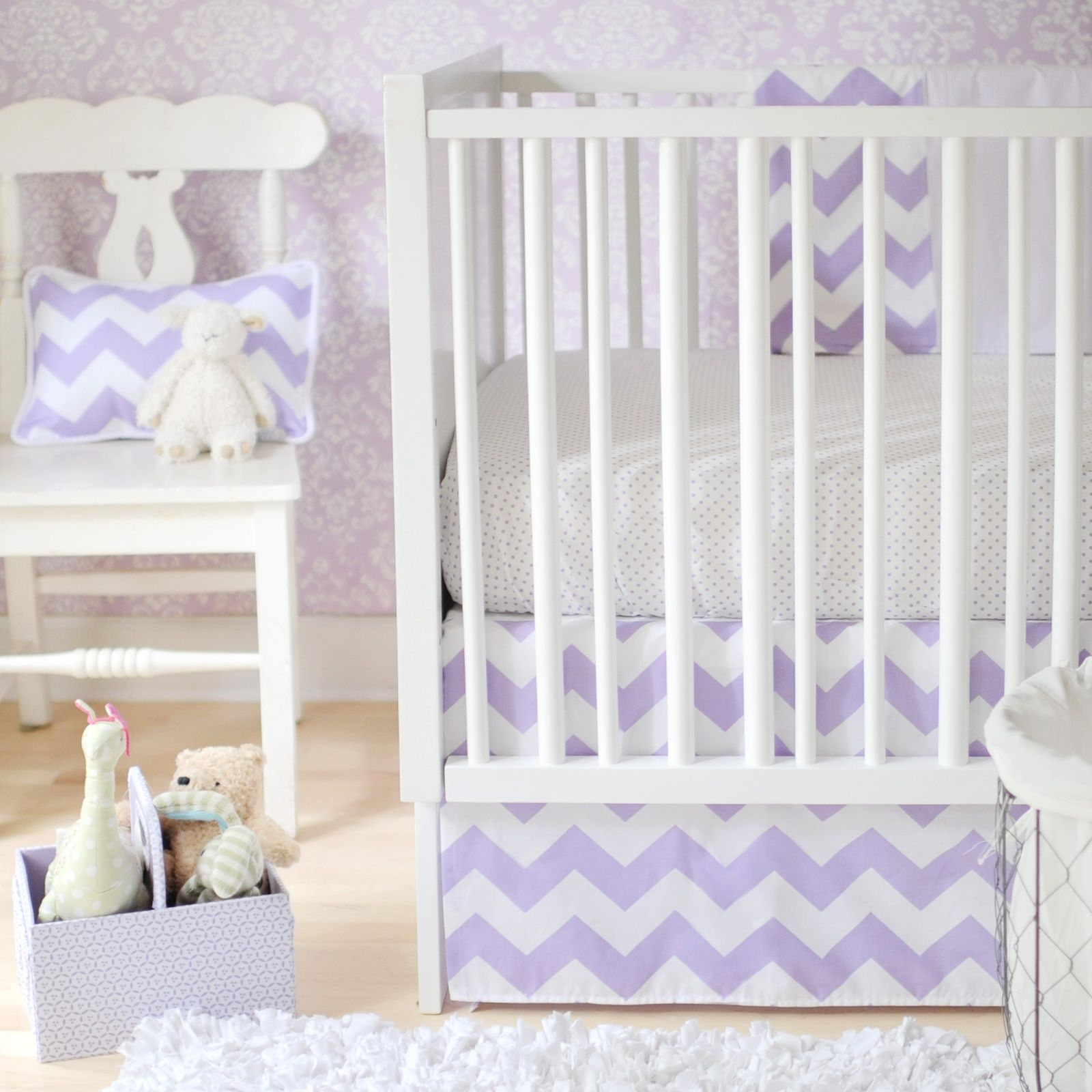 Chevron Zig Zag Baby Lavender Crib Bedding Set by New Arrivals Inc. purple baby bedding nursery