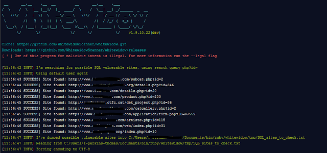 Whitewidow - SQL Vulnerability Scanner | Tech | Security
