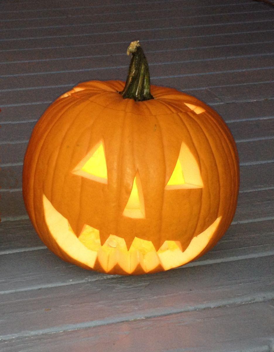 Halloween Celebrating Like a Catholic Pumpkin carving