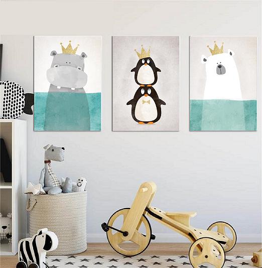 Wohnaccessoires A3 Drei Poster Kinderzimmer, Bild, Druck