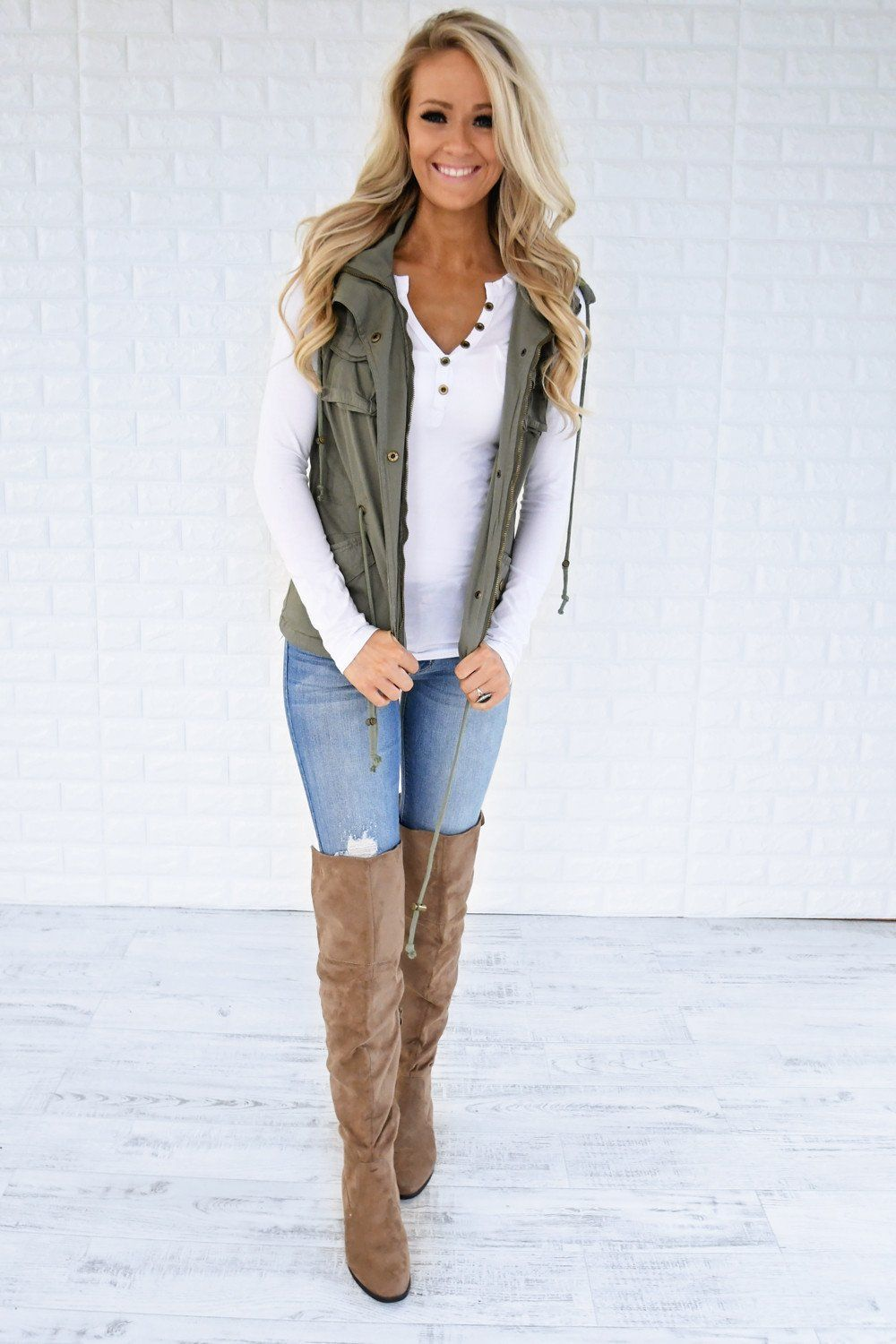 essential fall vest soft sage outfit ideas pinterest fall