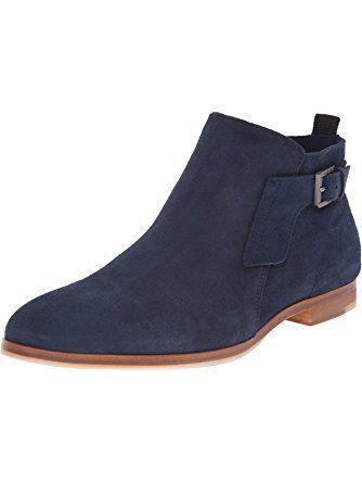 ce0cae3dd67 Calvin Klein Men's Faulkner Oily Suede Boot, Dark Navy, 7.5 M US ❤ Calvin  Klein Footwear Mens