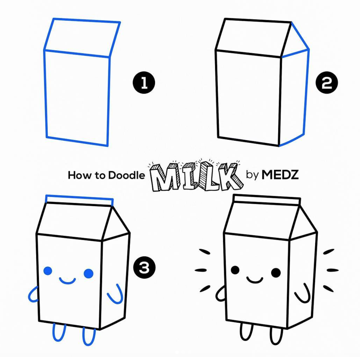 Photo of Doodles are so fun to make and easy Too! This Cute Milk Carton and Lots more Ide…