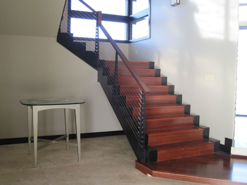 Interior Cable Stair Railing Kits Chicago Style Cable