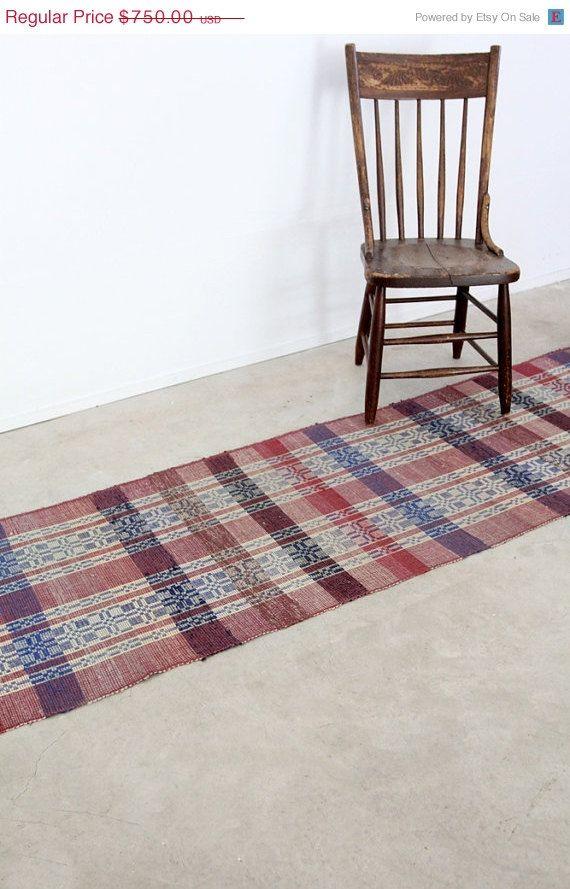 1920s Rag Rug Vintage Scandinavian Floor Runner 12 Ft With Images Rag Rug Rugs Homemade Rugs