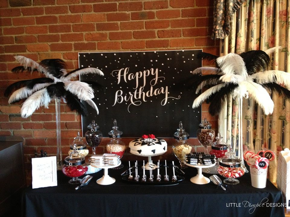 Astounding Buffet Table Black And White Party Ideas Birthday Table Download Free Architecture Designs Intelgarnamadebymaigaardcom