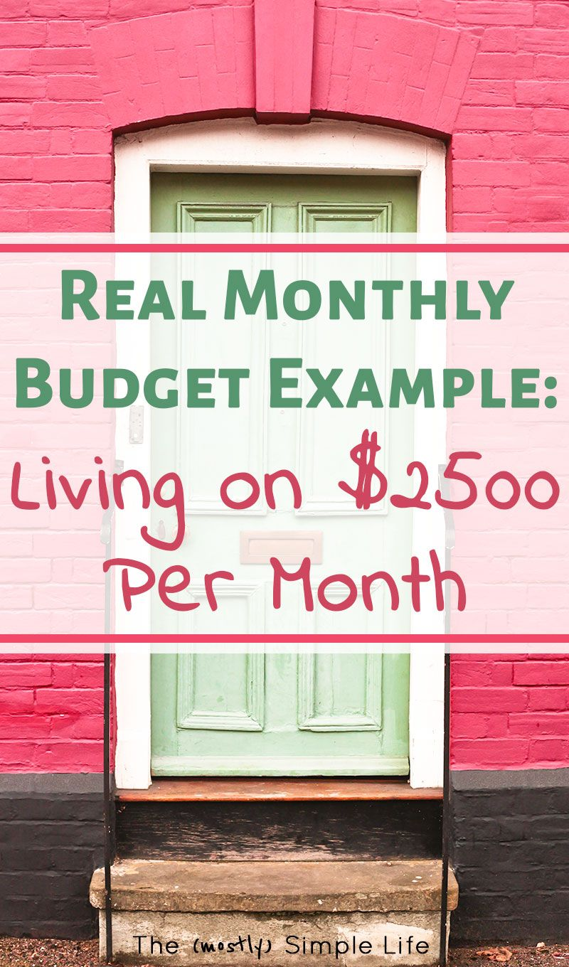 How to Live on 2500 Per Month Monthly budget, Budgeting