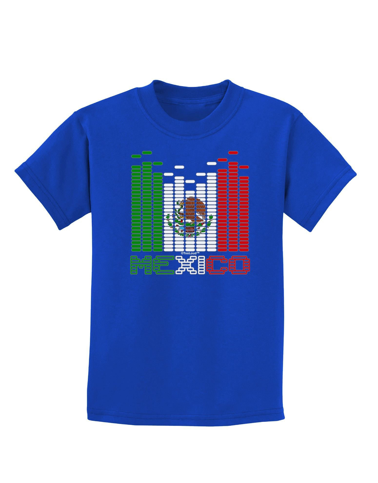 TooLoud Mexican Flag Levels - Cinco De Mayo Text Childrens Dark T-Shirt