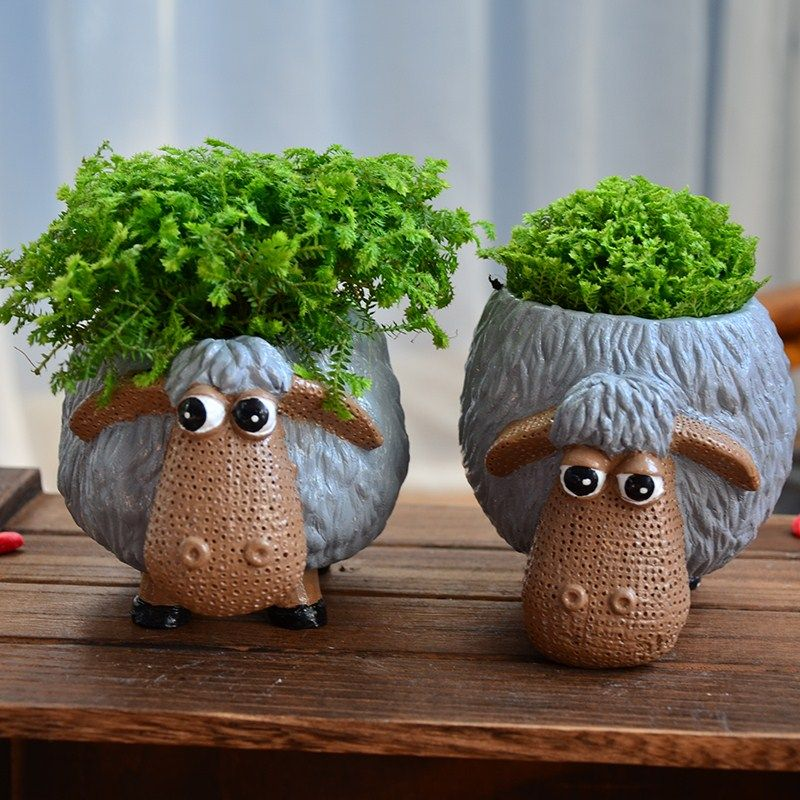 Click To Buy Office Decoration Flower Pots Planter Cute Cartoon Animation Multi Fancy Flower Pots Ceramic Flower Pots Ceramic Planter Pots Flower Pots