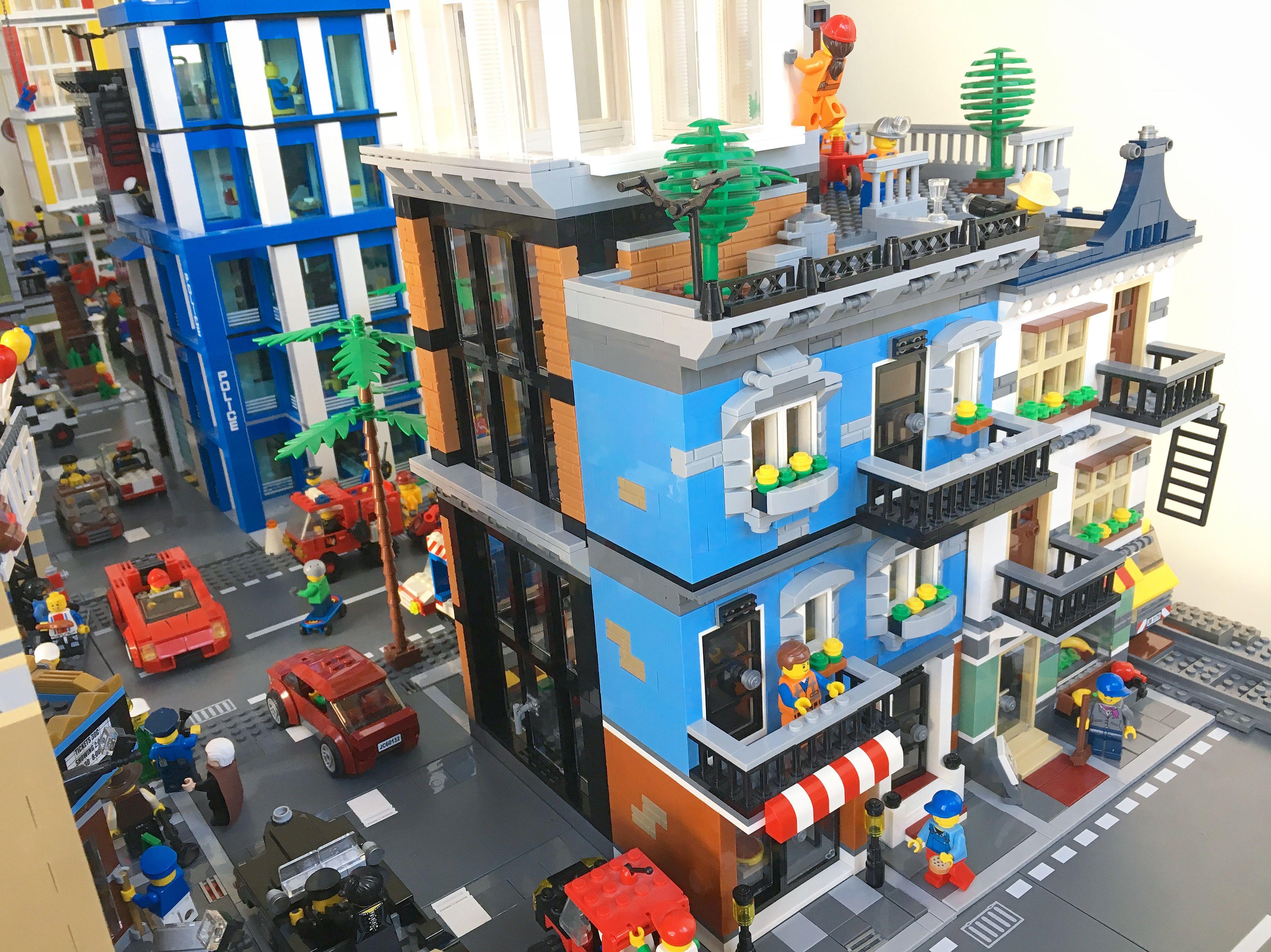 Lego Moc Micro City With Subway Train Station Youtube - Www