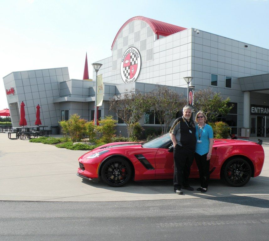 John and Jolynn Wedekind at the Corvette Museum in Bowling