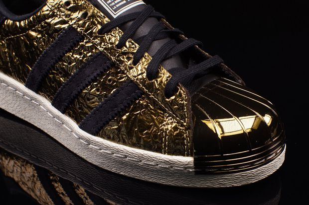 """adidas Superstar 80s metal toe """"gold foil"""" leather Hombre"""