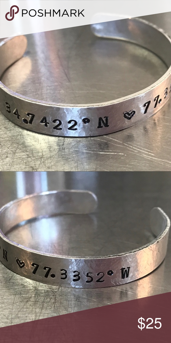 Latitude longitude custom bracelet! Available in copper and aluminum. NOT SPELL & GYPSY. Spell & The Gypsy Collective Jewelry Bracelets