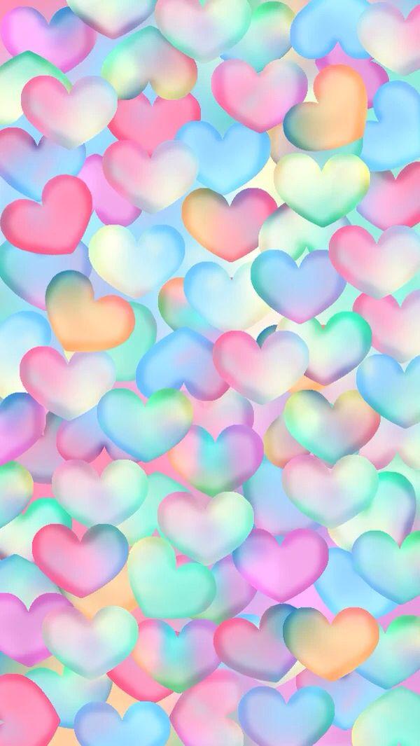 iPhone Wallpaper - Valentine's Day tjn | Lovely Illustration *u* en 2019 | Heart background ...