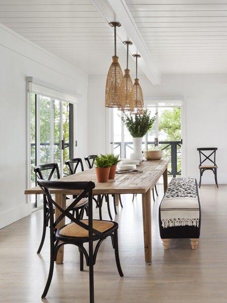 Photo gallery muskoka cottages hardwood floors house for Modern rustic dining room ideas