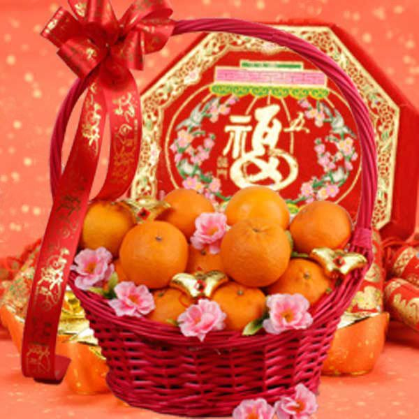 28 Mandarin Oranges Gift Basket Chinese New Year Chinese New Year Decorations Chinese Decor