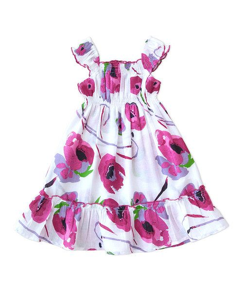 Look at this Party Time Shirred Angel-Sleeve Dress - Infant