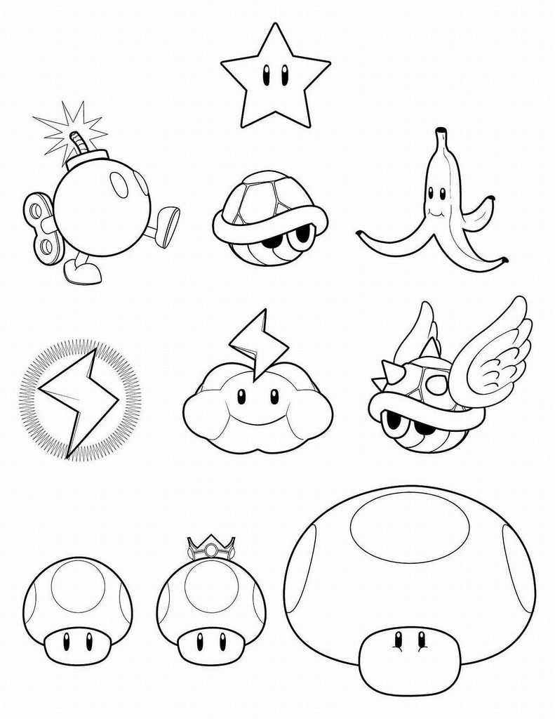 Super Mario Bros Clip Art Crafts Mario Bros Para Colorear
