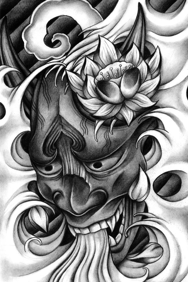 japanese skull tattoo designs leon morley s portfolio projects to try pinterest tattoo. Black Bedroom Furniture Sets. Home Design Ideas