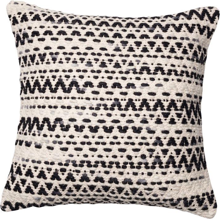 Loloi Poly Set Black//Grey Decorative Accent Pillow 22 x 22 Cover