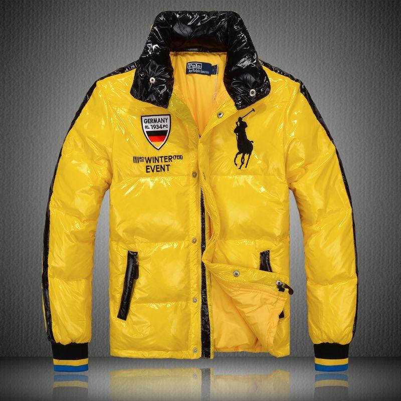 Ralph lauren Doudounes hiver hommes mode cuir jaune.jpg (800×800)