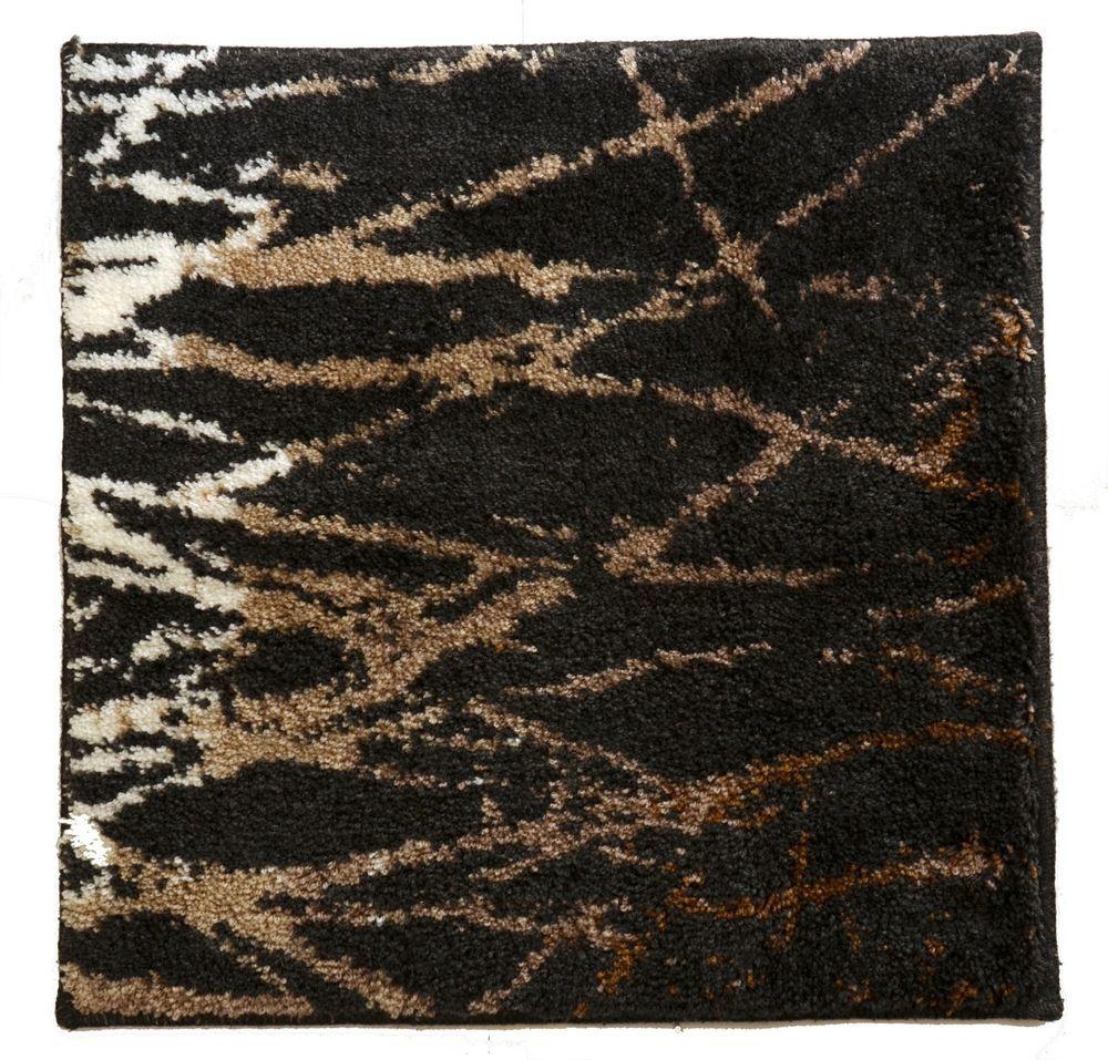 badmatte badteppich 50 x 50 von grund in anthrazit beige braun gemustert 3 ebay damenwelt. Black Bedroom Furniture Sets. Home Design Ideas