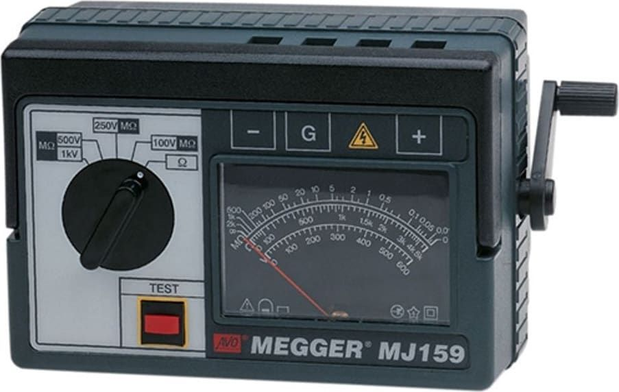 Megger 6410 863 212159 Mj159 Megger Analogue Insulation Tester In 2020 Insulation Tester Analog