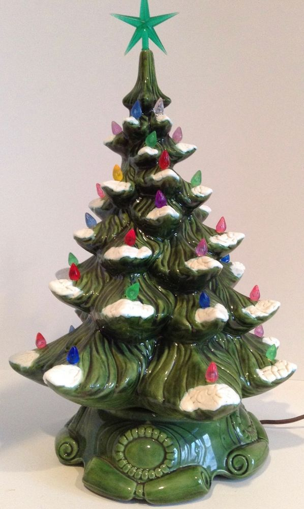 Vintage Artificial Christmas Trees.Details About Vintage Christmas 19 White Ceramic Mold Christmas