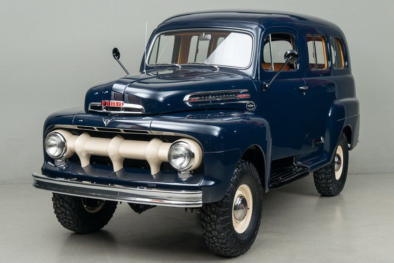 "1951 Ford F1 Ranger Marmon-Harrington VIN: F1R1HM35028 In 1951, Ford did not produce a ""carry-all"" type vehicle or four-wheel drive. They looked to specialty maker Marmon Harrington for assistance in creating these rare vehicles."
