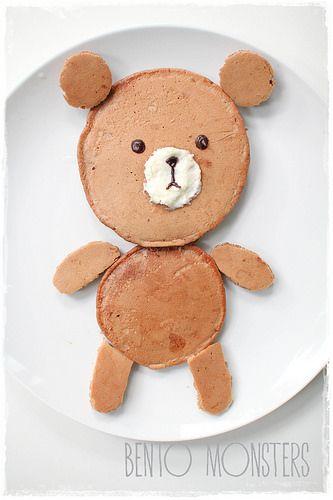 // Line Brown Bear Pancake //