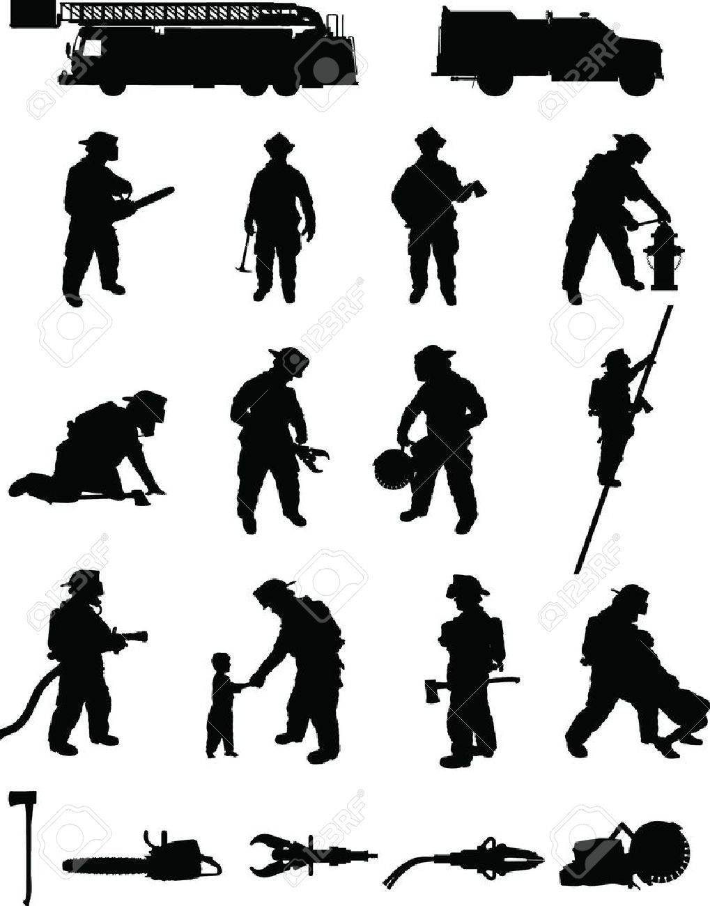 fireman silhouette clip art # 46