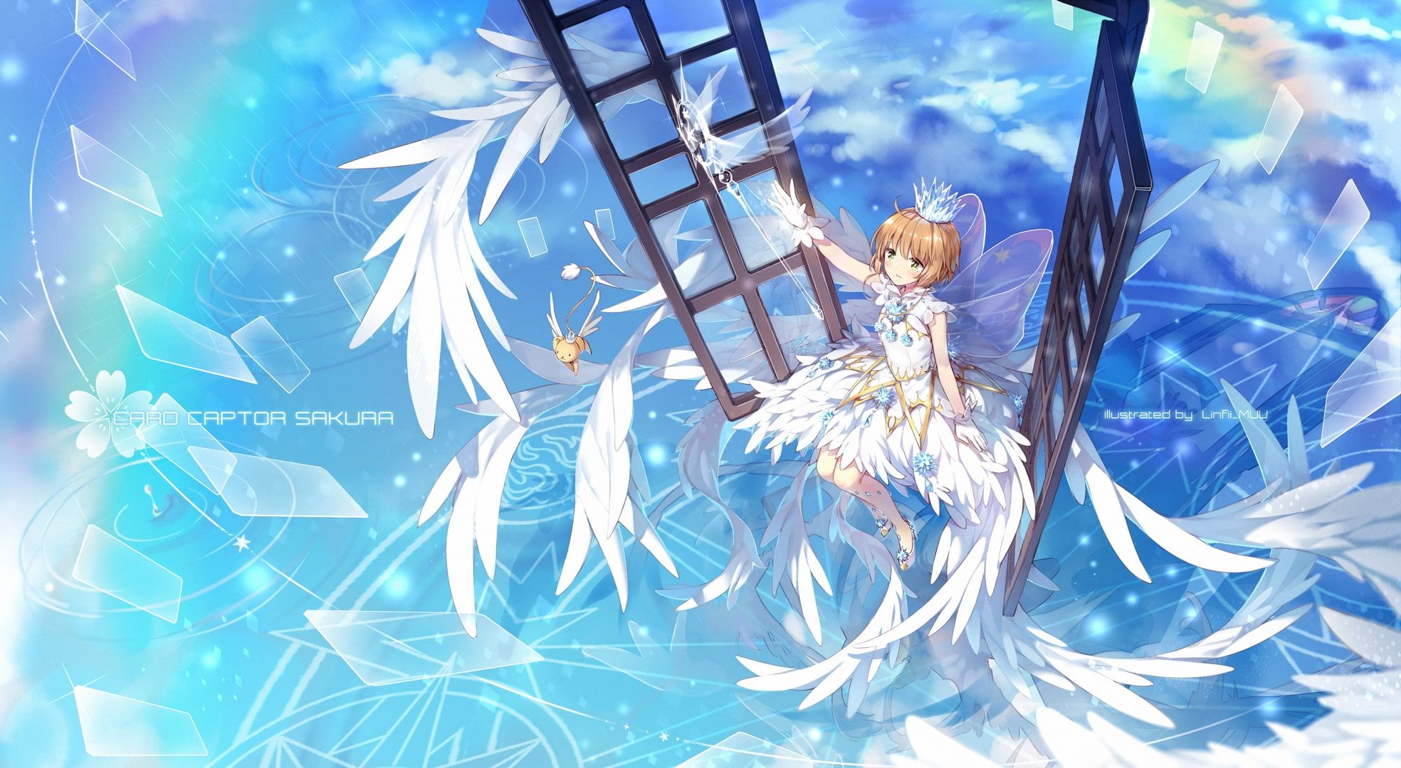 kinomoto sakura cardcaptor sakura clear cardhen wings