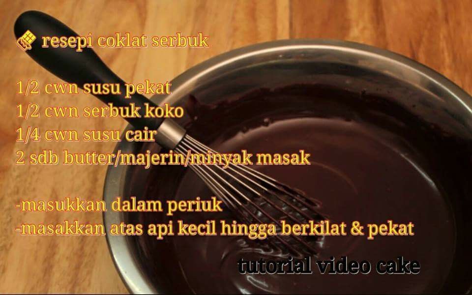 Resepi Coklat Serbuk Cupcake Cakes Ganache Butter Cream