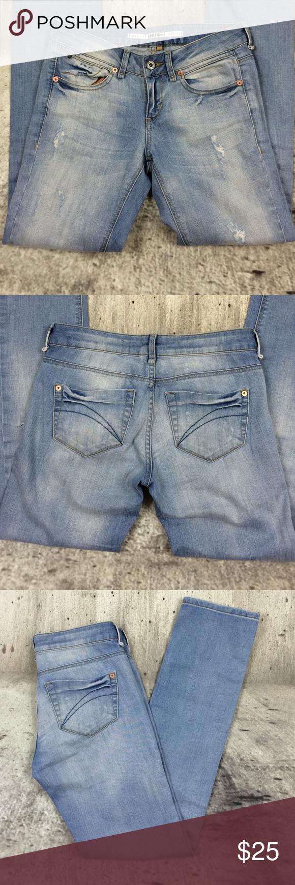 "Topshop moto destroyer jeans Topshop moto destroyer jeans  cotton and spandex blend inseam 32"" rise 7.5"" Topshop Jeans Straight Leg"