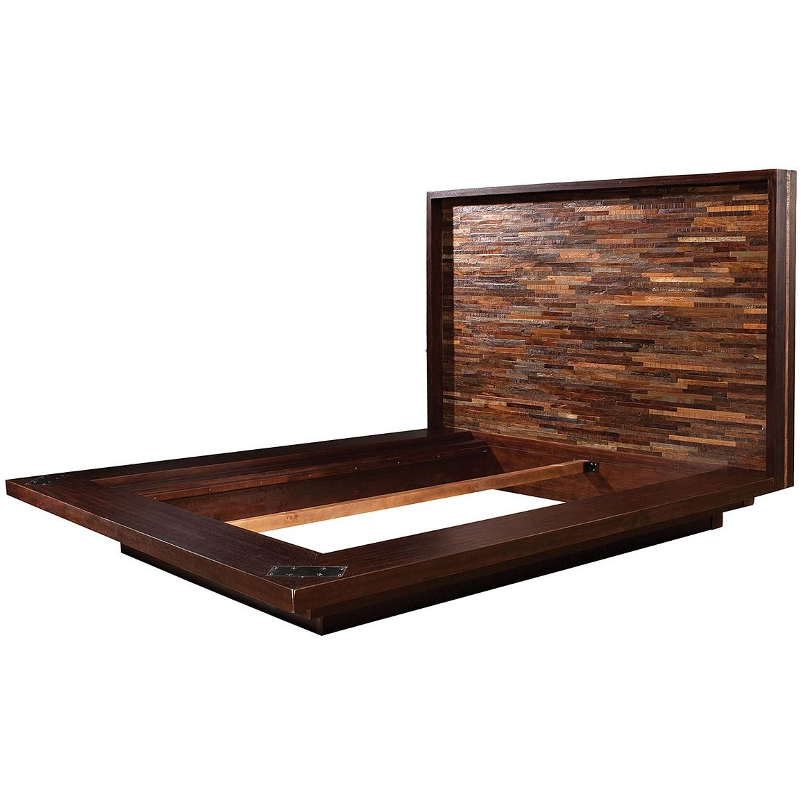 devon reclaimed wood king platform bed frame  wood platform bed  - devon reclaimed wood king platform bed frame
