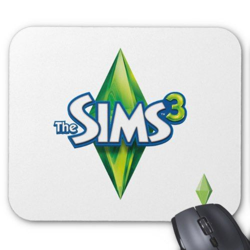 The Sims 3 Logo Mouse Pad Sims 3 Mods Sims 3 Games Sims