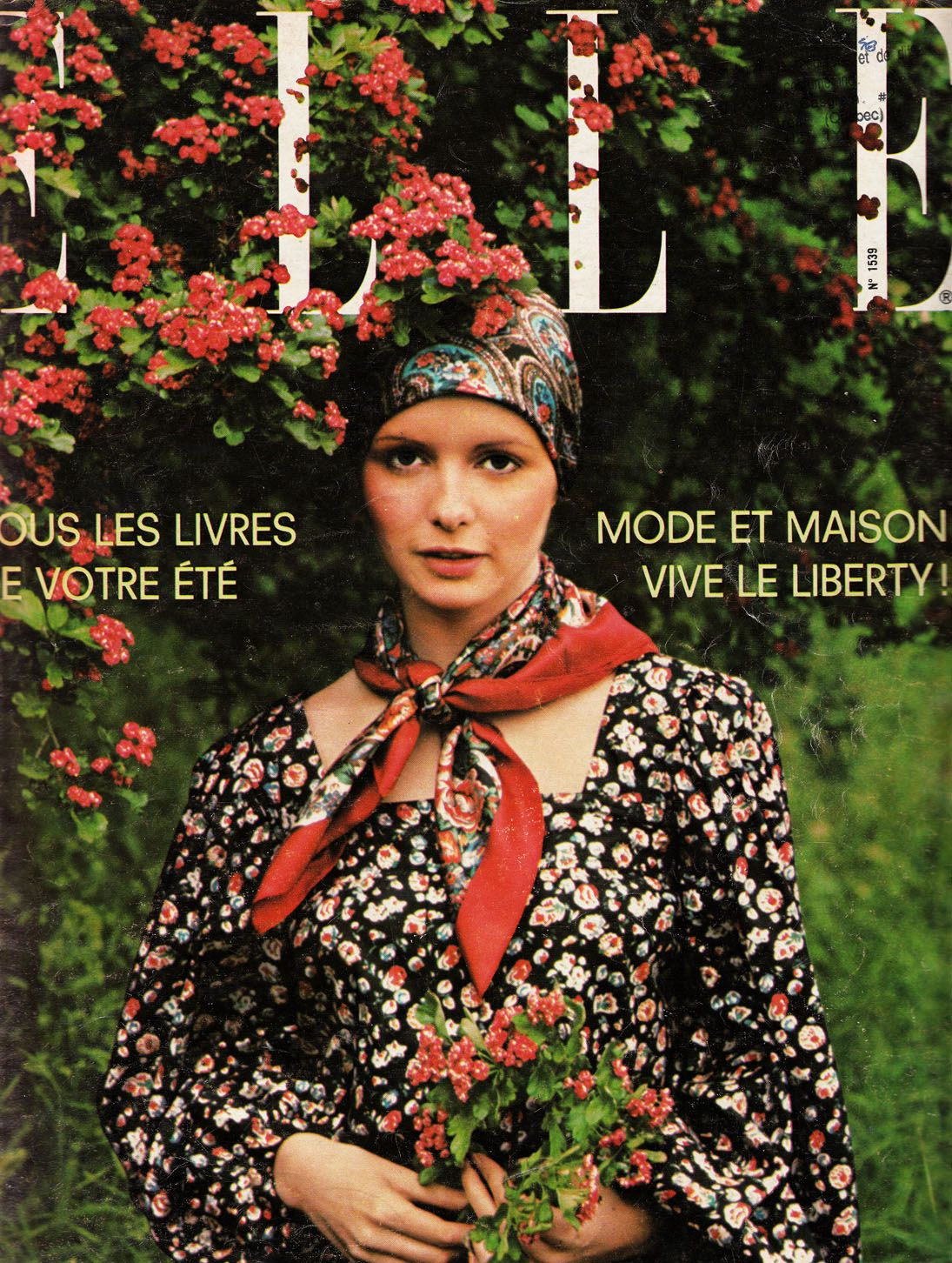 Yves saint laurent liberty of london print elle magazine july th