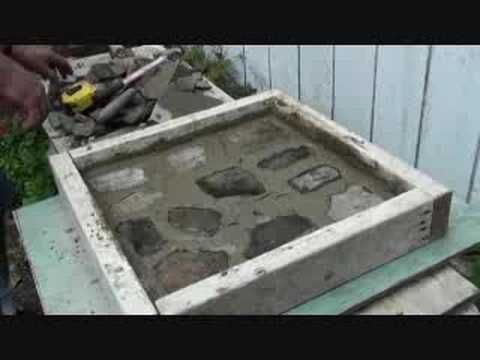 DIY Patio Pavers   1 Bucket Portland Cement 2 Buckets All Purpose Sand