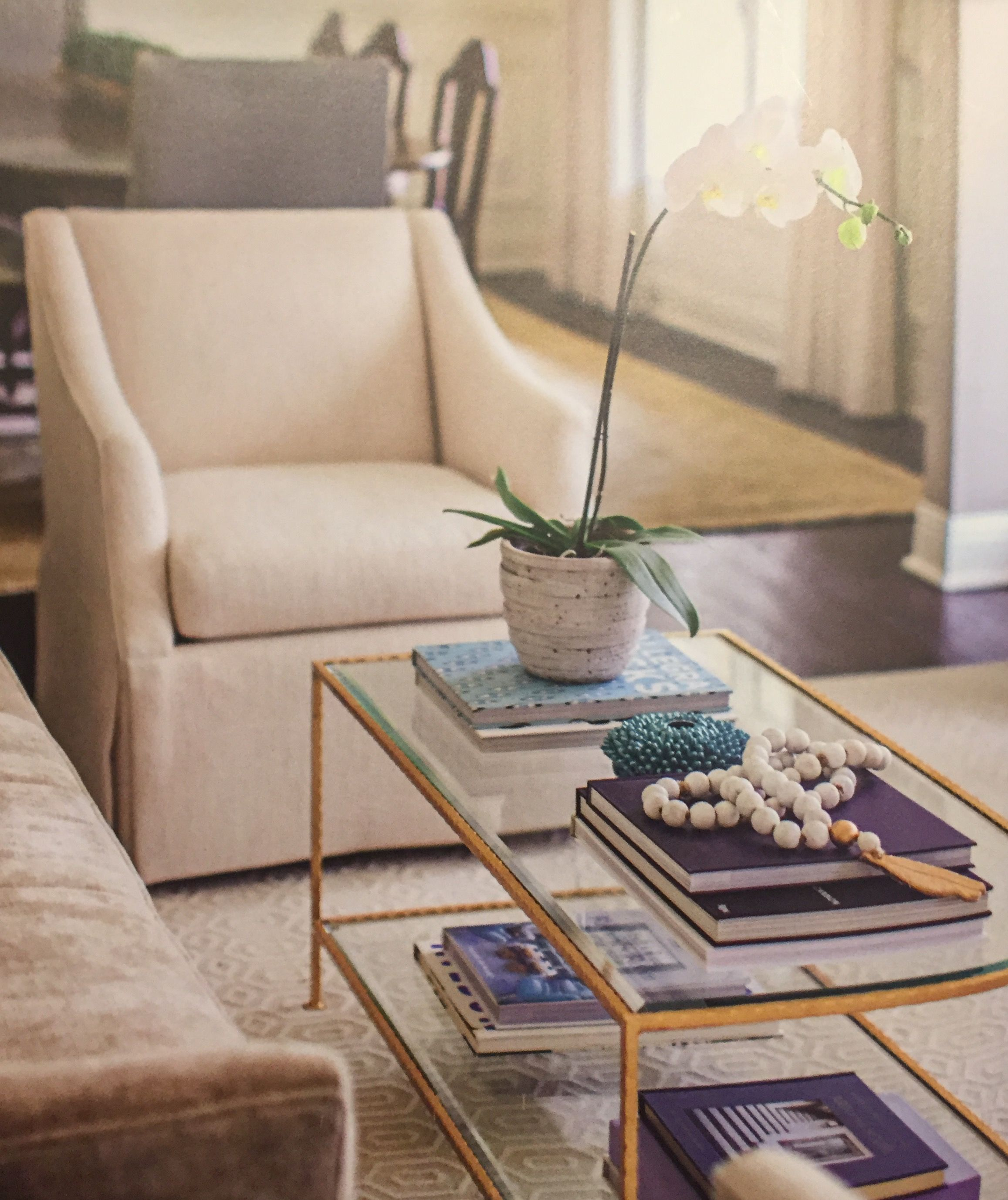 Staging Gold Table Coffee Table Gold Table Interior Decorating