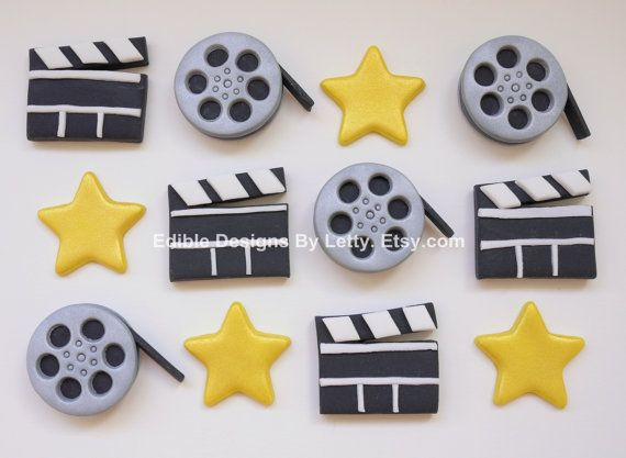 too cute!! 12 Edible Fondant Movie Themed Cupcake by EdibleDesignsByLetty, $18.95