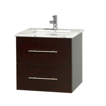 Wyndham Collection Centra 24 Inch Single Bathroom Vanity In