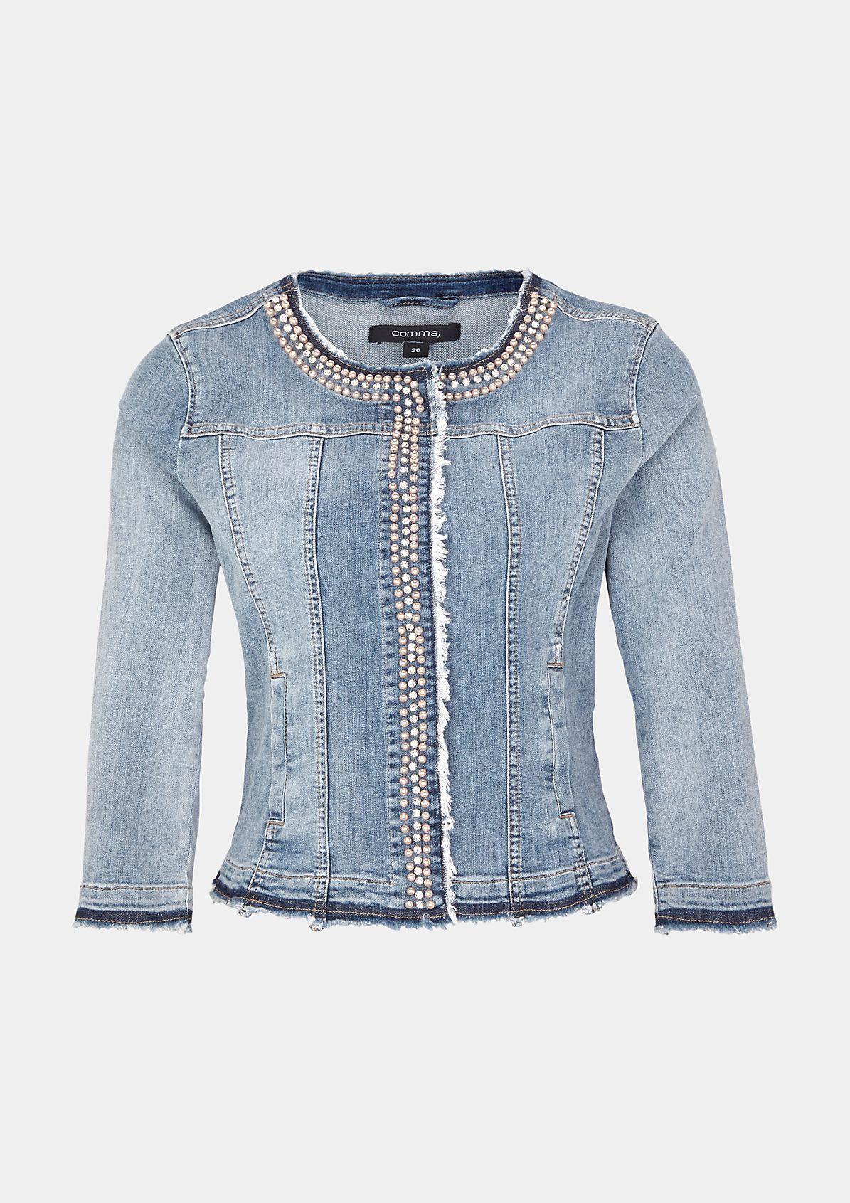 3 4 Arm Jeansjacke Im Used Look Jetzt Im Comma Online Store Entdecken Und Bequem Bestellen Jacken Mode Jeansjacke